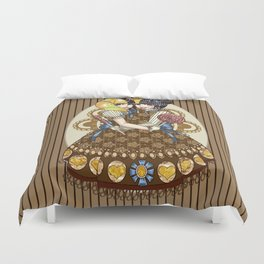 Thoraco-omphalopagus Conjoined Lolita Duvet Cover