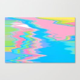 Neon Spill Abstract Canvas Print