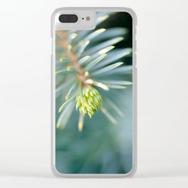Tip of the fir tree branch Clear iPhone Case
