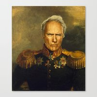 replaceface Canvas Prints featuring Clint Eastwood - replaceface by replaceface