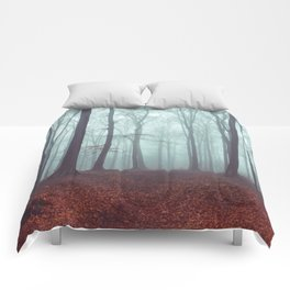 Forest Magic - Foggy Forest Scene Comforters