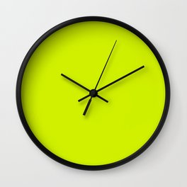 Lime Punch - Spring 2018 London Fashion Trends Wall Clock