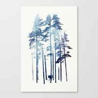 wolf Canvas Prints featuring Winter Wolf by Robert Farkas