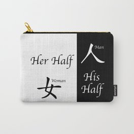 Her And His Half Carry-All Pouch