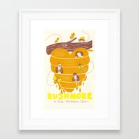 rushmore Framed Art Prints featuring Rushmore Poster by Heather Lund Illustration