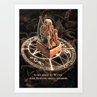 cthulhu Art Prints featuring Cthulhu by TheMagicWarrior