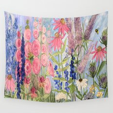 Flowers Garden Acrylic Painting Wall Tapestry