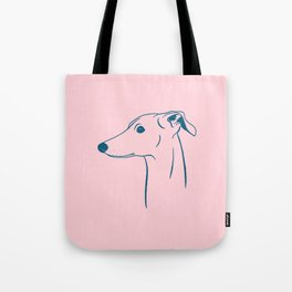 Italian Greyhound (Pink and Blue) Tote Bag