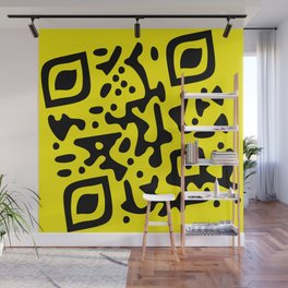 QR Clothes Yellow Wall Mural