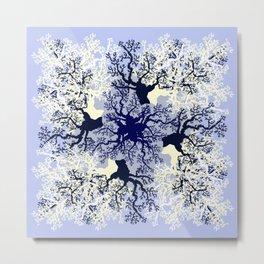 Blue ocean corals. Metal Print