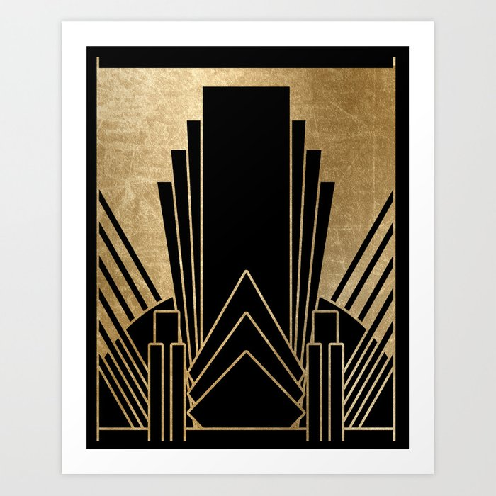 Art Deco Designs: Art Deco Design Art Print By Peggieprints