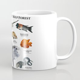 Fish of the Pacific Kelp Forest Coffee Mug