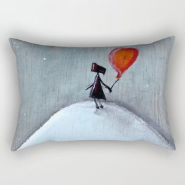 Reflection | Illustration by Angelique Desiree Rectangular Pillow