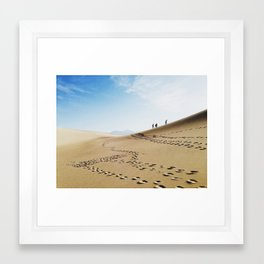 Hikers in Death Valley Framed Art Print
