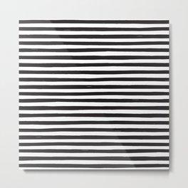 Black Stripes Metal Print