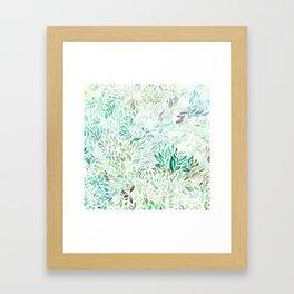 Watercolor Rainbow leaves Framed Art Print