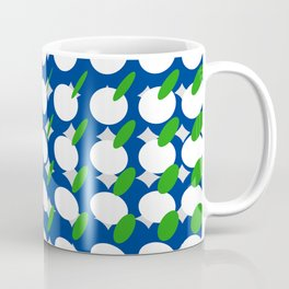 elipse grid pattern_blue, green Coffee Mug