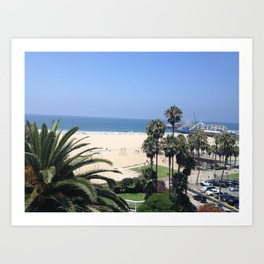 Santa Monica, CA Art Print