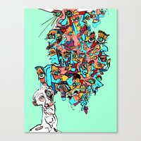 brain waves Canvas Prints featuring Brain Drain by Rat McDirtmouth