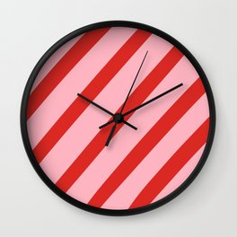 Reddy Stripes Wall Clock
