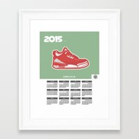 calendar 2015 Framed Art Prints featuring 2015 Calendar  by Cierra Conley