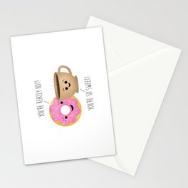 Donut and Coffee  |  Really Hot and So Sweet Stationery Cards