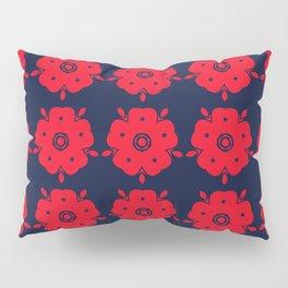 Japanese Samurai flower red pattern Pillow Sham