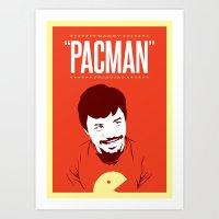 pacman Art Prints featuring Pacman by Yo Jimbo