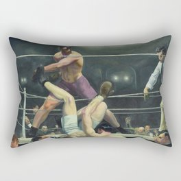 """George Wesley Bellows """"George Dempsey and Firpo"""" Rectangular Pillow"""