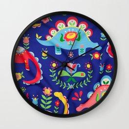 Swedish Folk Art Design V Wall Clock