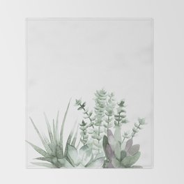 Succulent Throw Blanket