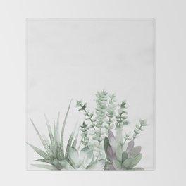 Succulent Throw Blanket