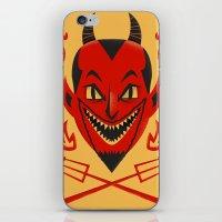 diablo iPhone & iPod Skins featuring El Diablo by John Clark IV