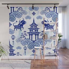 Year of the Ox Pagoda  Wall Mural