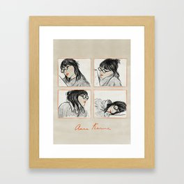 Anna Karina Reading Framed Art Print