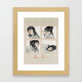 Anna Karina Reading Framed Art Print