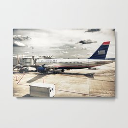 US Aiways Plane at Ronald Reagan Washington National Airport Metal Print