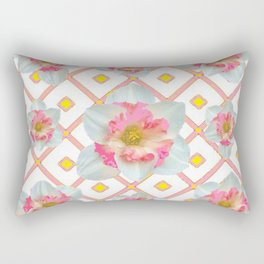 Pink-Yellow Spring Garden Daffodils Rectangular Pillow