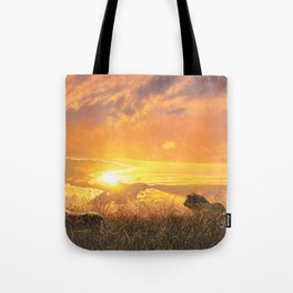 Sunset by Alan M Hunt Tote Bag