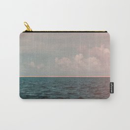 Turquoise Ocean Peach Sunset Carry-All Pouch