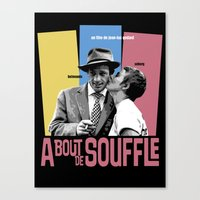 godard Canvas Prints featuring A Bout de Souffle by Douglas Simonson