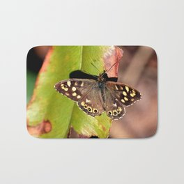 Speckled Wood Butterfly Bath Mat