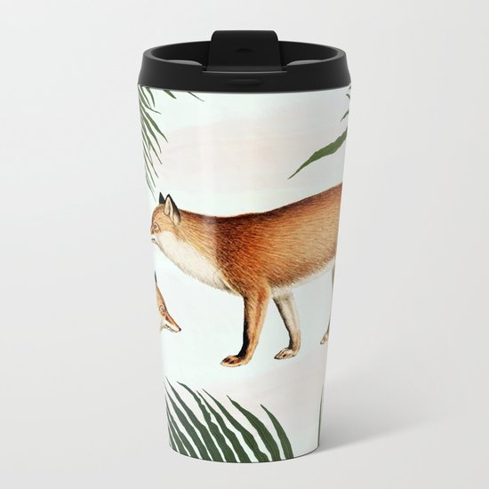 Red Fox Pair #society6 #buyart #decor Metal Travel Mug