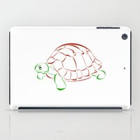 turtle iPad Cases featuring turtle by Aata