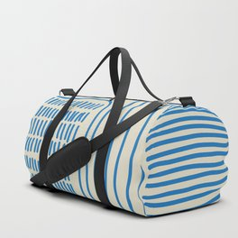 Digital Stitches thick beige + blue Duffle Bag