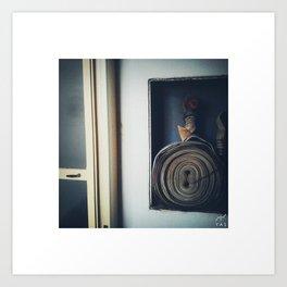hydrant and door Art Print