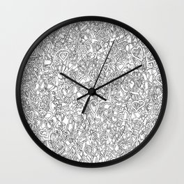 2 edged hearts B&W Wall Clock