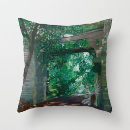 Green Lane Bridge - Wormelow, Herefordshire Throw Pillow