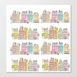 Stockholm houses Canvas Print