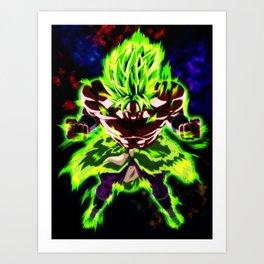 Broly Full Power Art Print